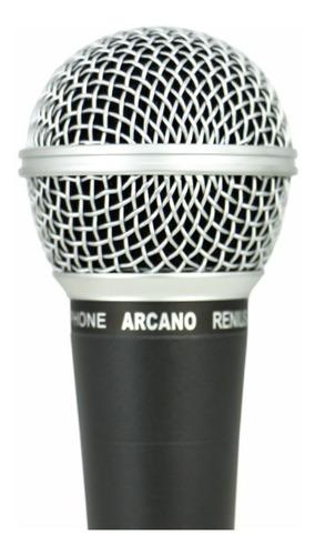 kit arcano 2 microfones dinâmicos renius-8 xlr-xlr