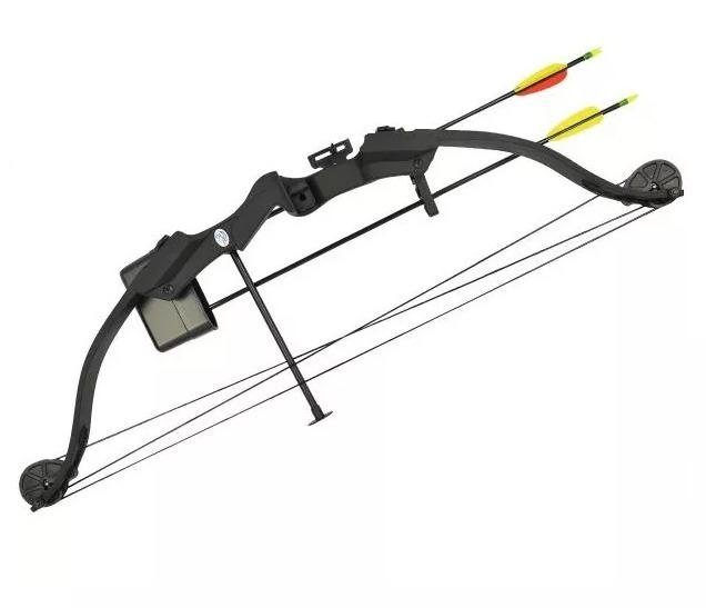 7d306ce45 Kit Arco + 2 Flechas Com Ponta 25 Libras Man Kung Mk-cb010b - R  475 ...