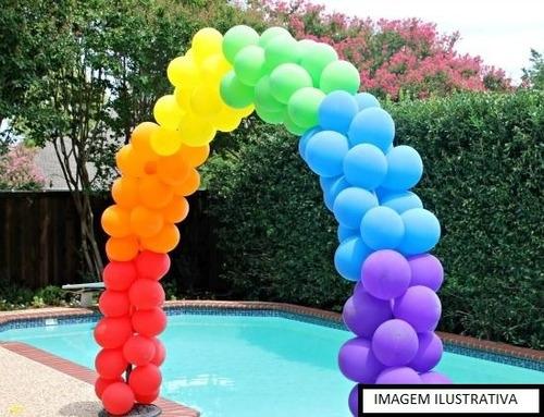 kit arco desmontável com base de metal para balões