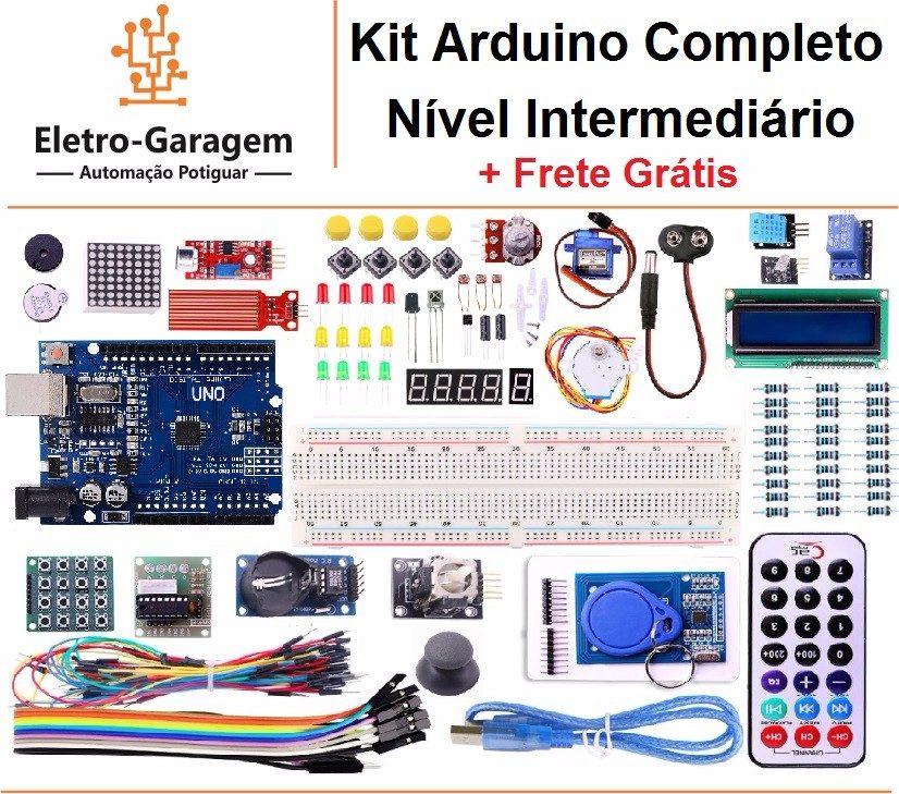 Kit arduino completo nível intermediário frete grátis
