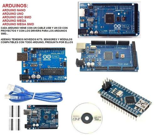 kit arduino mega 2560 con base acrilica protoboard