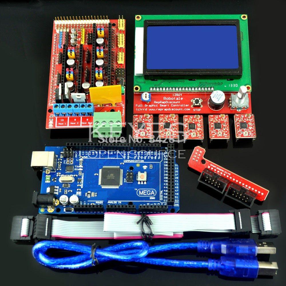 Kit Arduino Mega 2560 Ramps 14 5 Driver A4988 Display Lcd R Arduin Carregando Zoom