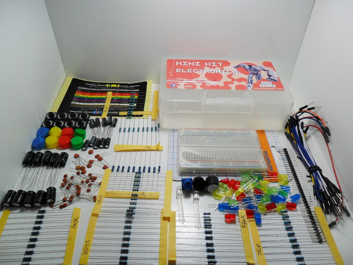 Kit arduino mini de electrónica el mas completo raspberry