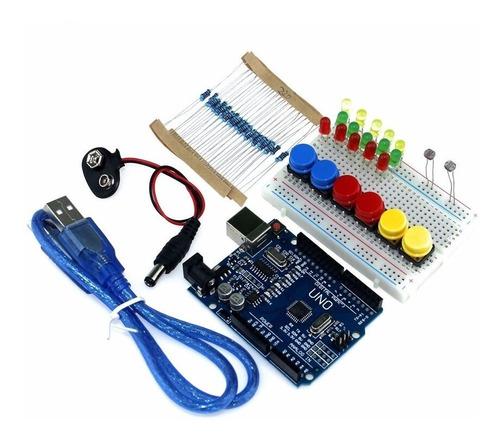 kit arduino nivel básico 92 pçs- iniciante -  robótica