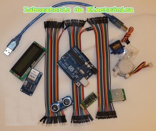 Kit arduino pro bluetooth hc sr lcd ethernet sg pir y