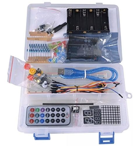 kit arduino uno básico con caja organizadora + completo full