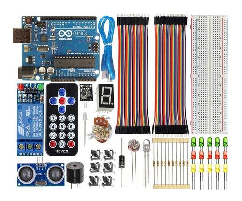 kit arduino uno r3 básico iniciante + sensor pronta entrega