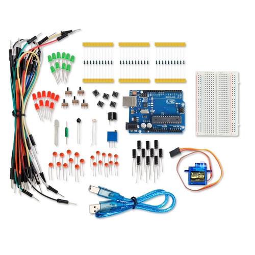 kit arduino uno r3 start + sensores + servo - pronta entrega
