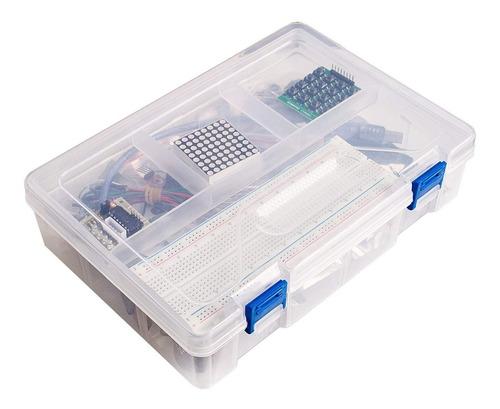 kit arduino uno r3 starter pack completo caja plástica rfid