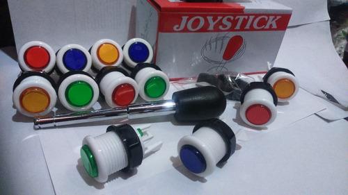 kit arma tu joystick arcade palanca y 10 botones mercadopago