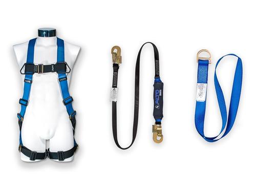 kit arnes de seguridad +linea de vida + punto fijo facturado