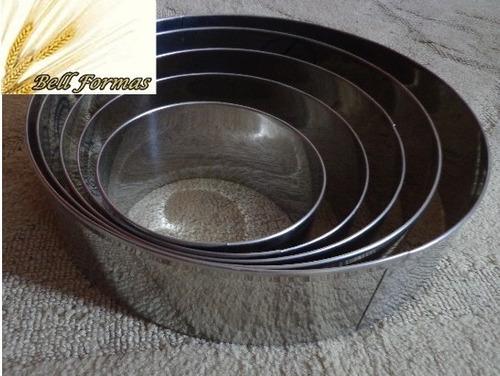 kit aro cortador redondo 5 peças 15cm + bailarina alumínio