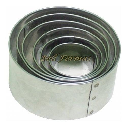 kit aro cortador redondo 6 pçs + kit aro quadrado 5pçs -10cm