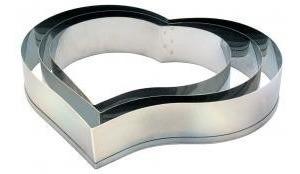 kit aro cortador redondo+ quadrado 10cm alt +kit aro coração