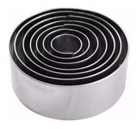 kit aros cortadores redondos para massas bolos inox