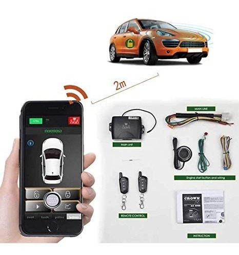 kit arranque remoto control celular boton distancia alarma