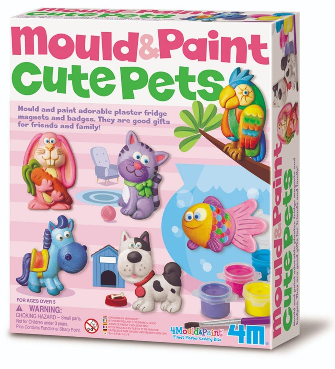 4M Lindo Mascotas Molde Y Pintura-crear Imanes para refrigerador o insignias
