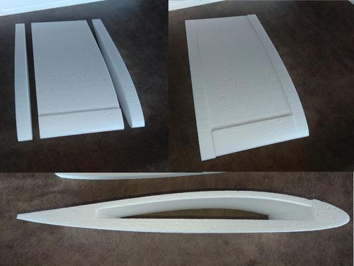 kit asa zagi 2,25m com pod oco para montar corte em cnc