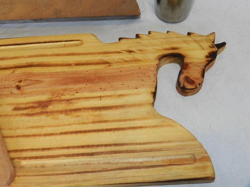kit asador club picada asado estuche madera fabrica**