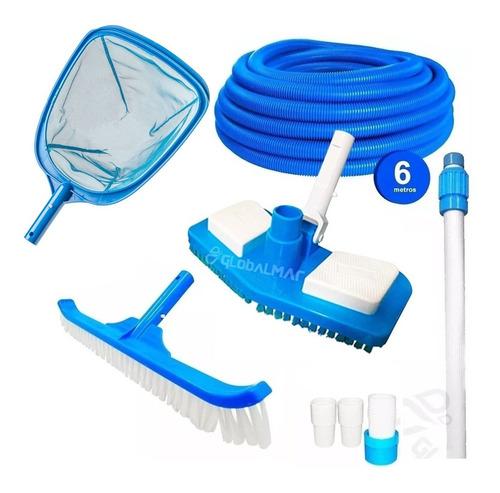 kit aspirador piscina adaptador escova peneira mangueira