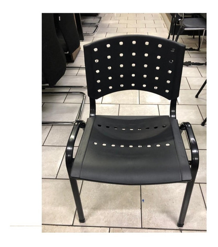 kit assento e encosto cadeira iso fixa e giratória preto