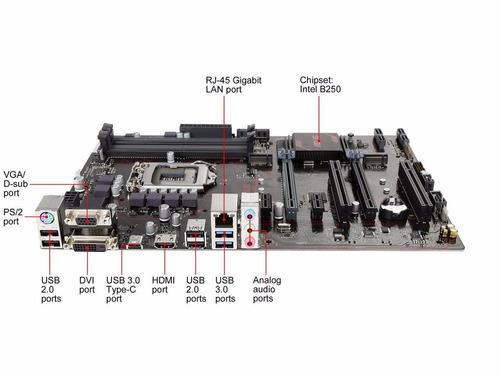 kit asus prime b250-plus + intel i7-7700 + 8gb ddr4 hyperx