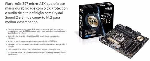kit asus z97m-plus i7 4790k cooler + memoria 24 giga 1600f