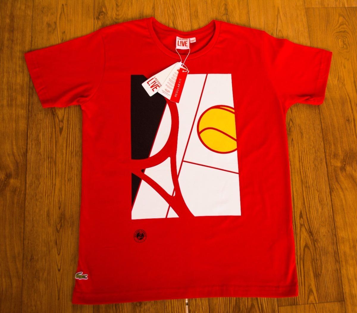 5b0d1cecd742e Kit Atacado 10 Peças Camisetas Estampadas Lacoste Live - R  340