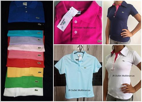 f4373746201aa Kit Atacado 25 Camisas Polo Feminina Tommy Promoção Lacoste - R  554 ...