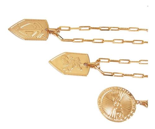 kit atacado 30 peças  masculinas folheadas ouro semi joias
