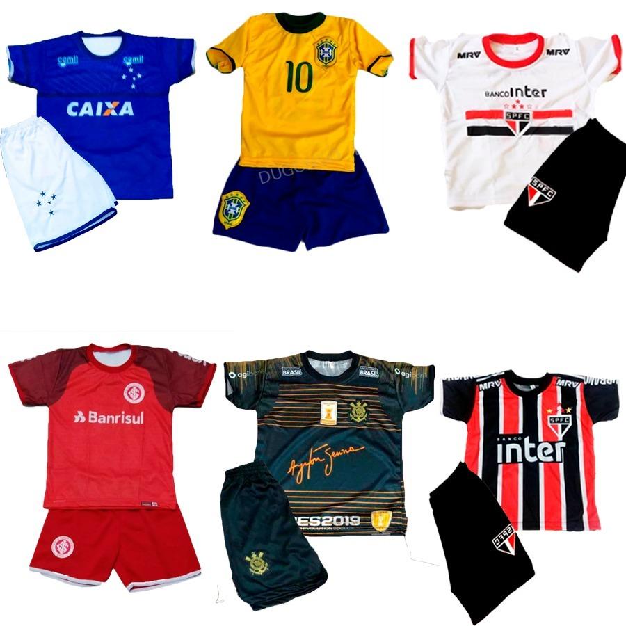 29a7d8fd3 kit atacado 4 conjuntos futebol uniforme menino futebol. Carregando zoom.