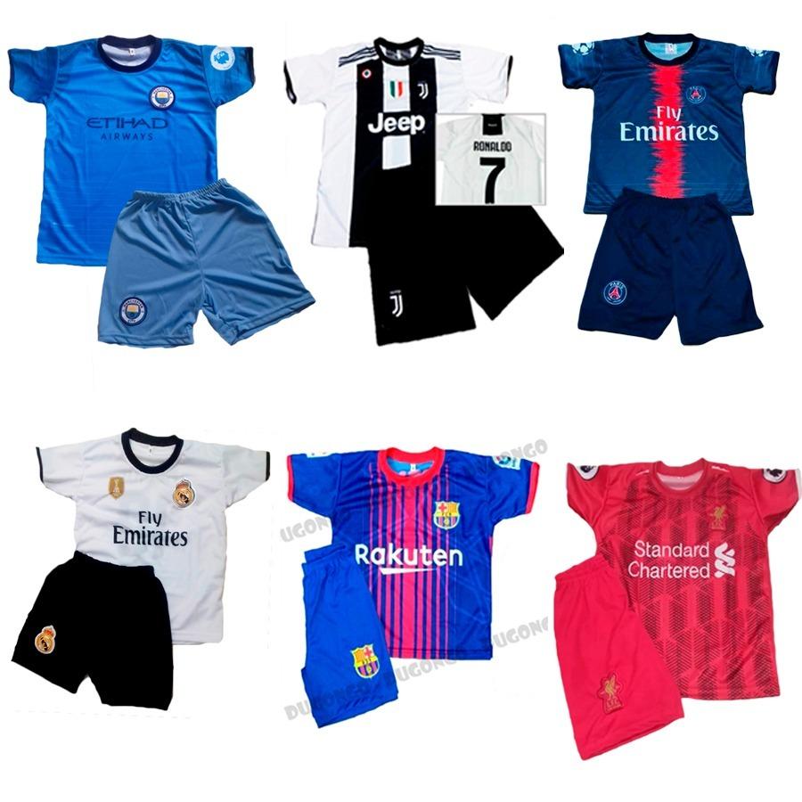 9c5a242c6b Kit Atacado 5 Conjuntos Futebol Uniforme Nacionais E Europeu - R ...