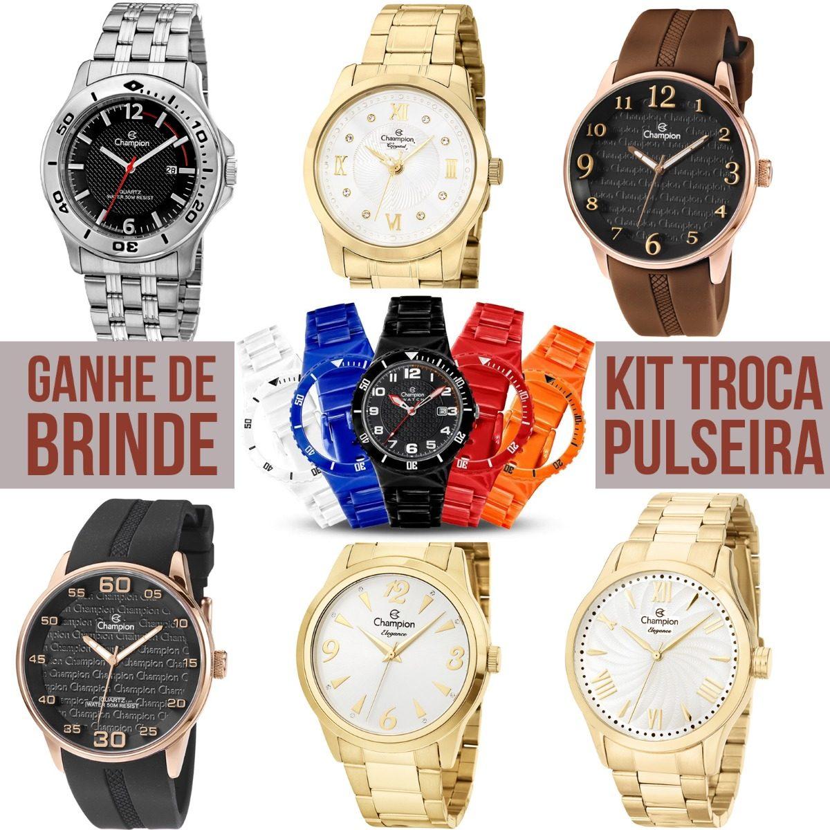 88781dfcd91 Kit Atacado 6 Relógios Feminino E Masculino + Troca Pulseira - R ...