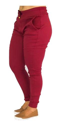 kit atacado roupas 5 calças femininas ribana plus size