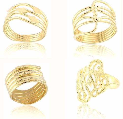 kit atacado semi joias 150 peças folheada a ouro e prata