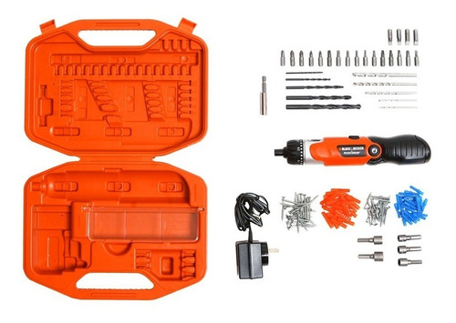 kit atornillador 3.6v black decker bd7260 black + decker