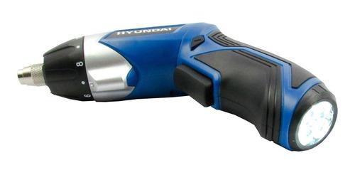 kit atornillador inalambrico 3.6v + 55 pcs linterna hyundai