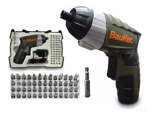 kit atornillador inalámbrico 4v+53 accesorios bauker carga