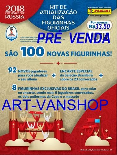 kit atualizaçao 100 figurinhas copa 2018 russia