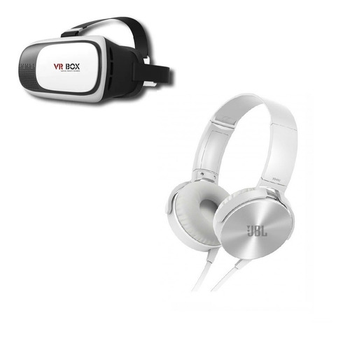 kit audifonos jbl xb-450 cable + lentes vr box 2.0 8694