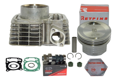 kit aumento cilindrada titan 150 p/190cc c/comando 320°