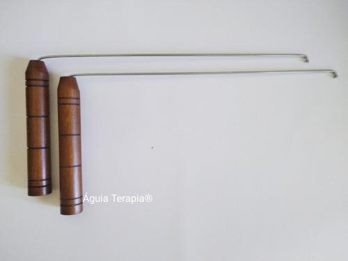 kit aurameter cromado + egipcio lastro + dualrod radiestesia