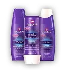 kit aussie moist - shampoo+condicionador+mascara 3 minute
