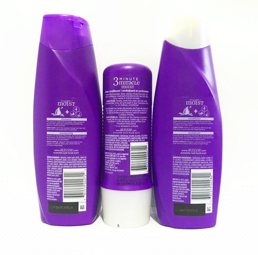 614c460b8 kit aussie shampoo + condicionador + 3 minute miracle moist. Carregando  zoom.