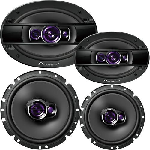 kit auto falantes pioneer triaxial 6 e 6x9 300w rms 4 peças