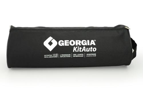kit auto reglamentario georgia 7 - 1 matafuegos gordo funda
