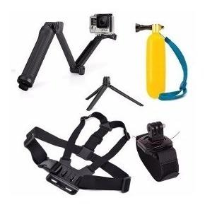 kit aventura gopro acessórios hero 2 3+ 4 5 6 7 sports black