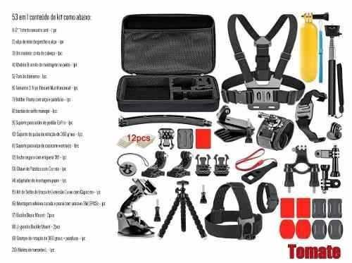 kit aventura gopro hero acessórios gopro 4 5 6 7 hd black 53