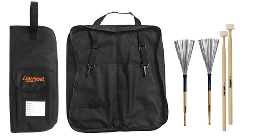 kit bag 01p + par vassourinha va 200 + baquetas timpano lf s