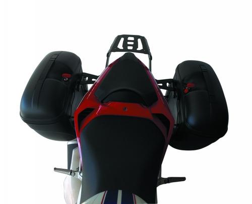 kit bagageiro + suporte p/ baú lateral givi - cb 500f_2017